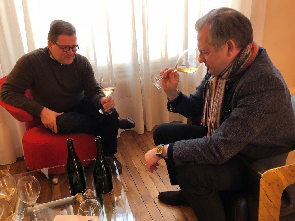 Blanc des Millénaires 2004 avec Cyril Brun, chef de caves et Stephen Leroux, directeur de Charles Heidsieck