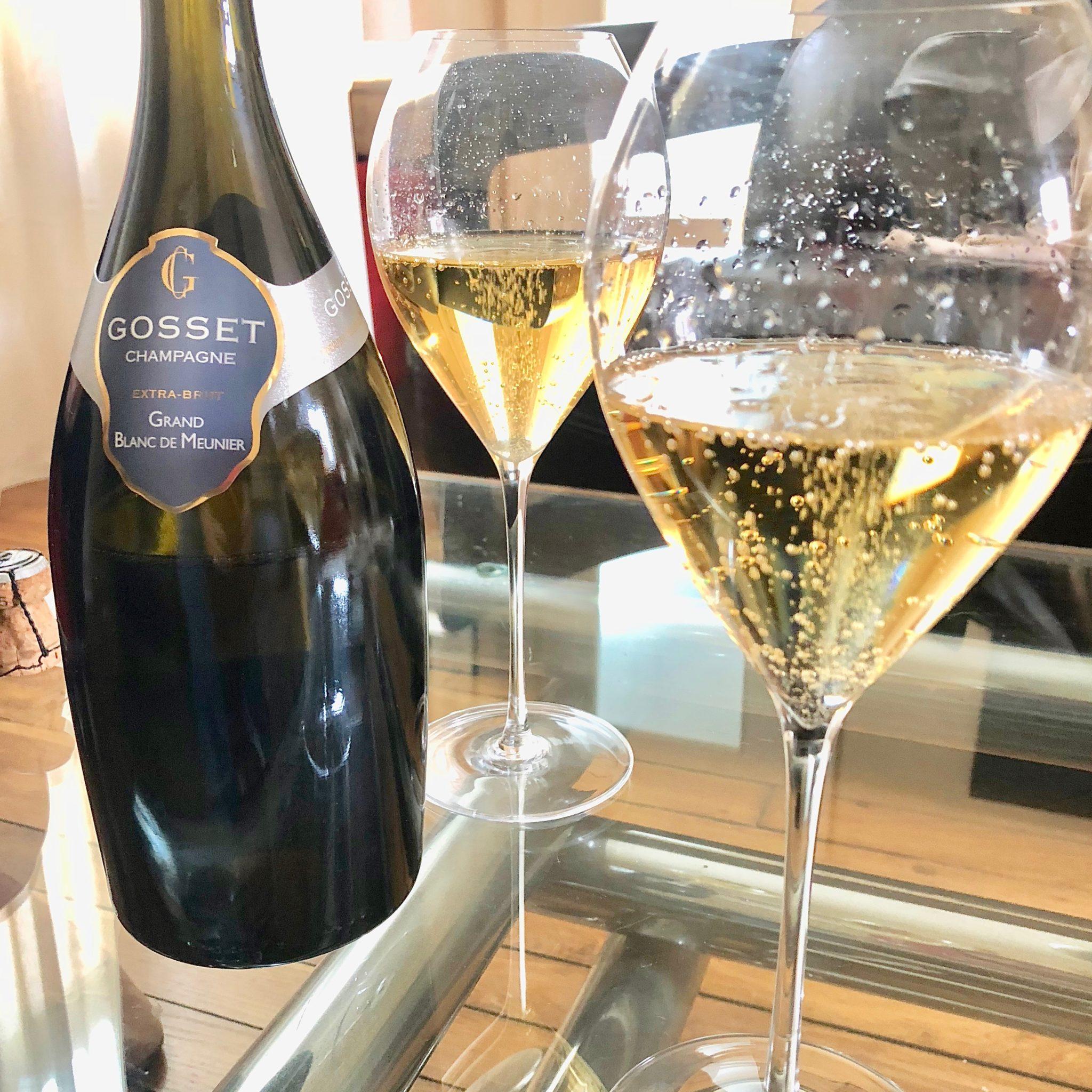 Un Blanc de Meunier élaboré par la maison de champagne Gosset complète la trilogie des cépages.