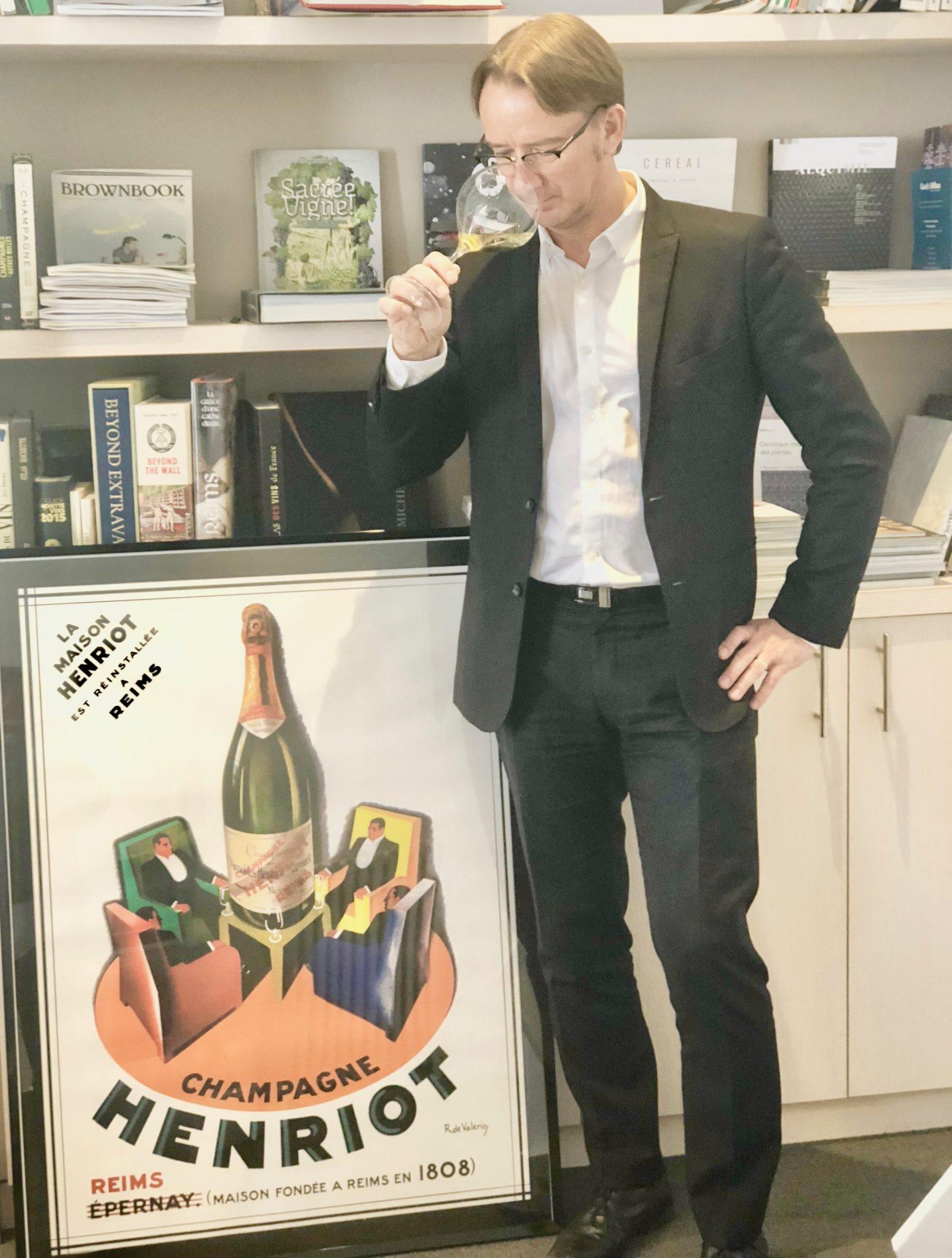 Le millésime 2008 de la maison de Champagne Henriot présenté par le chef de caves Laurent Fresnet.