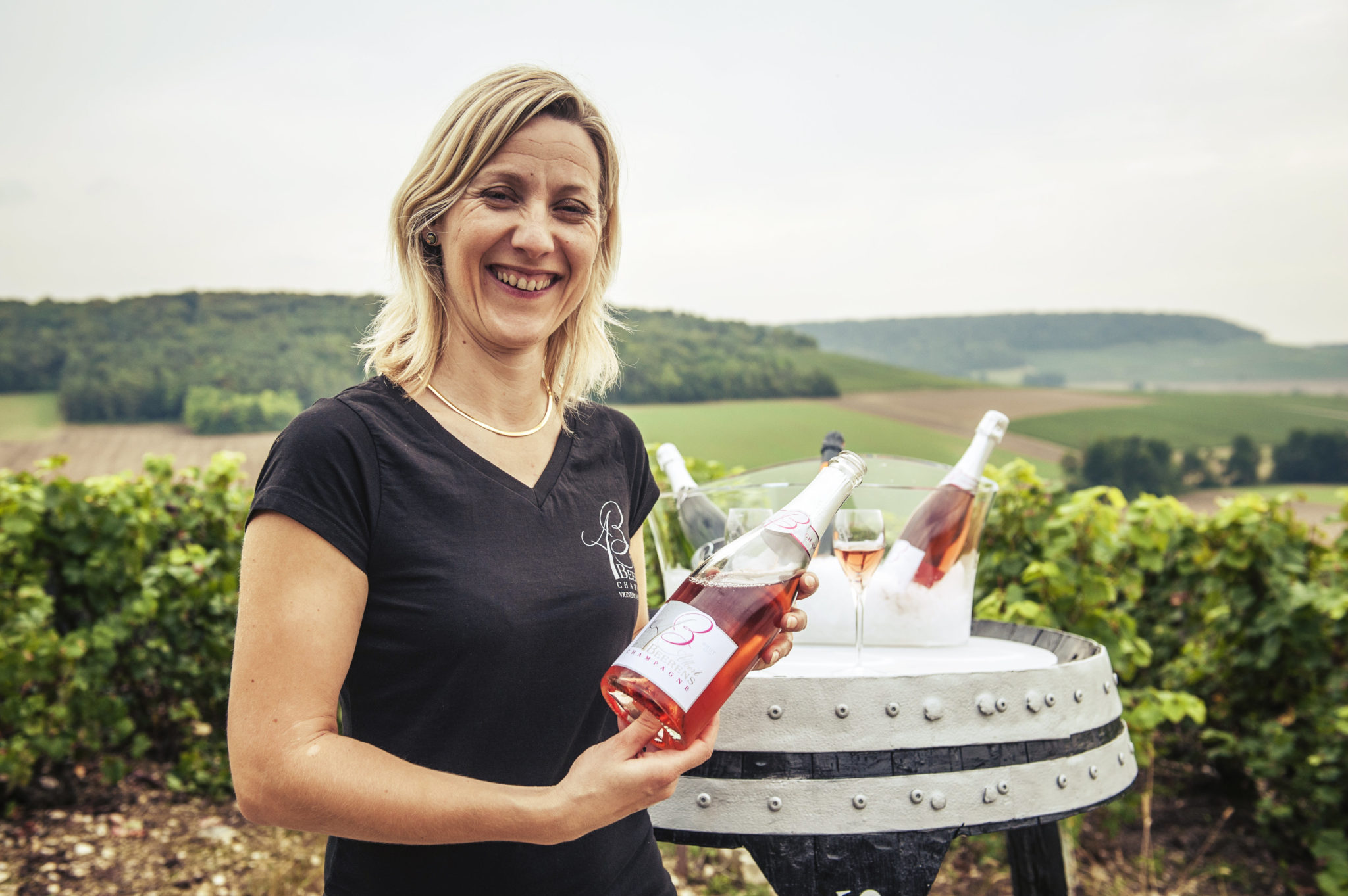 La cuvée Eternel Rosé présentée par Anne-Laure Beerens (champagne Albert Beerens).