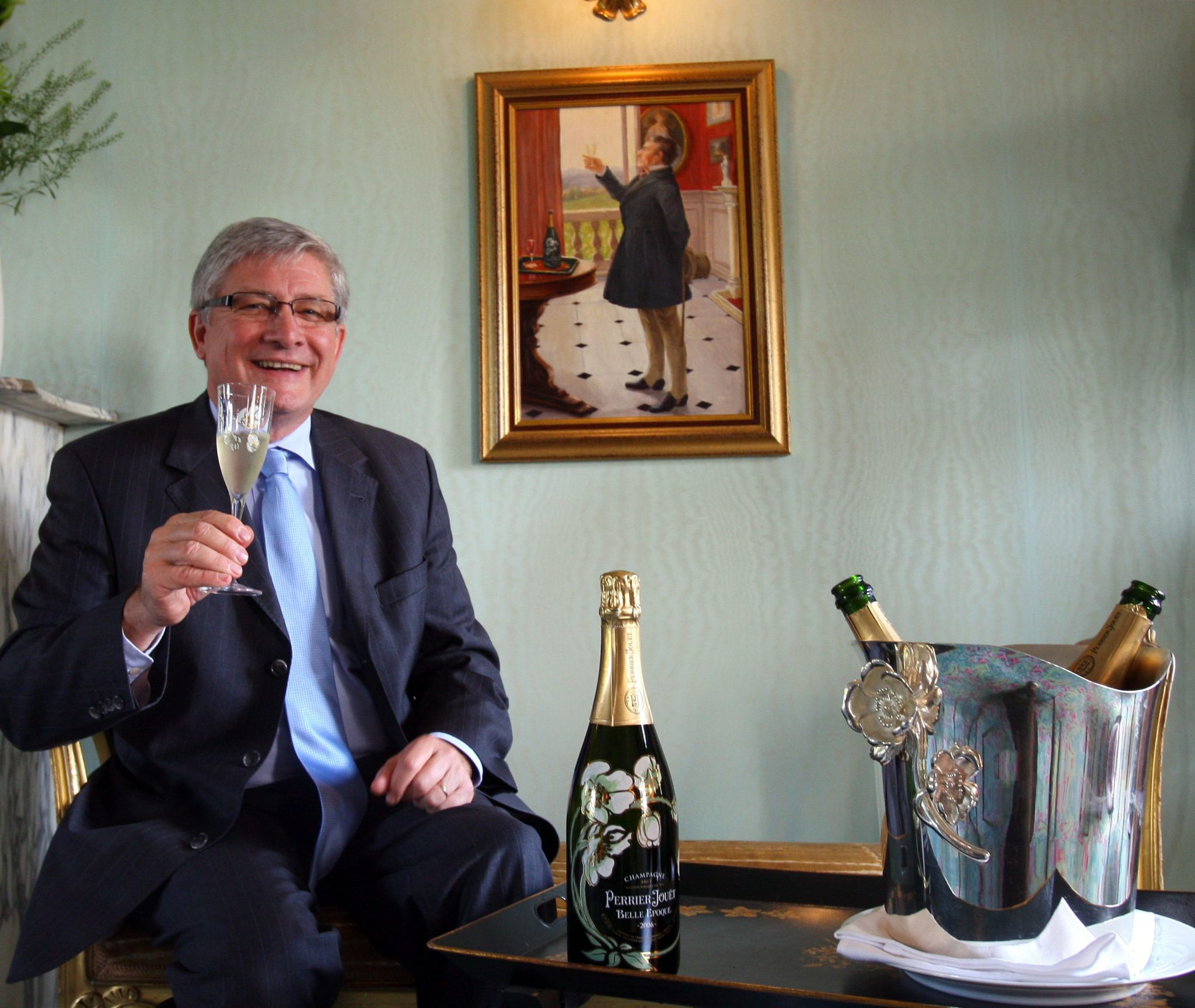 Hervé Deschamps, chef de caves de Perrier-jouët.