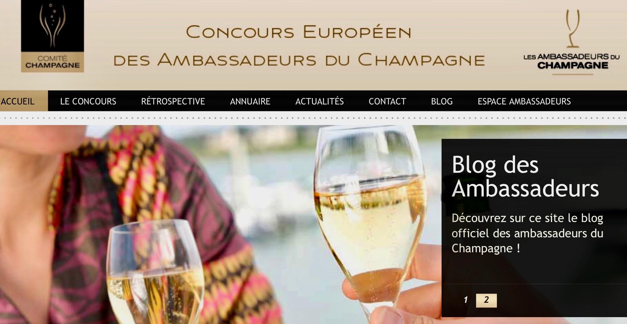 Arrêt du Concours Européen des Ambassadeurs du Champagne.