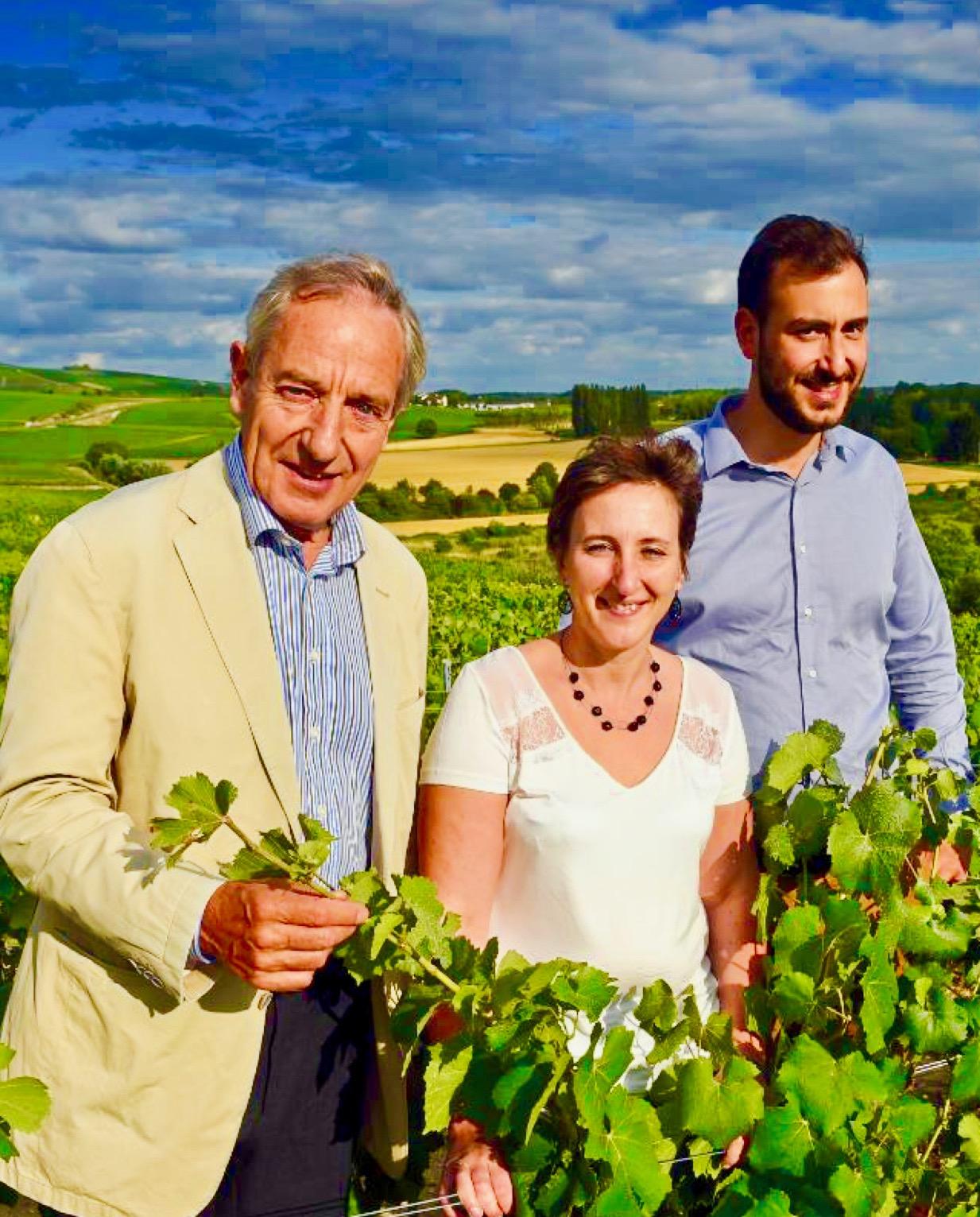 Jean-Claude Fourmon, Nathalie Laplaige et Benjamin Fourmon, la relève est assurée.