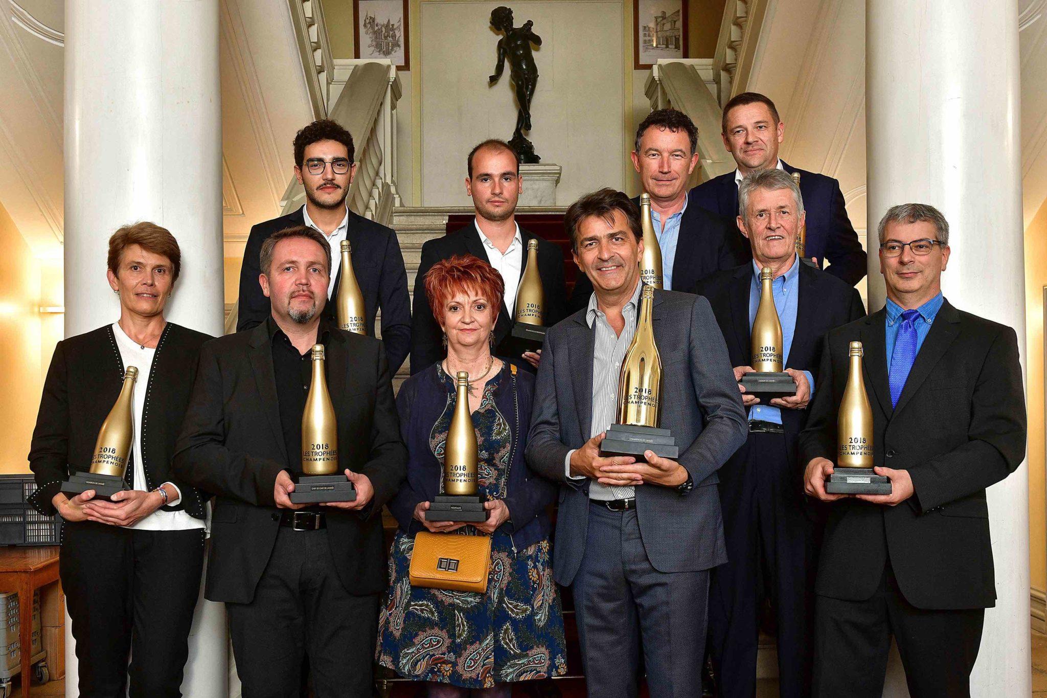 Les lauréats des Trophées Champenois 2018.