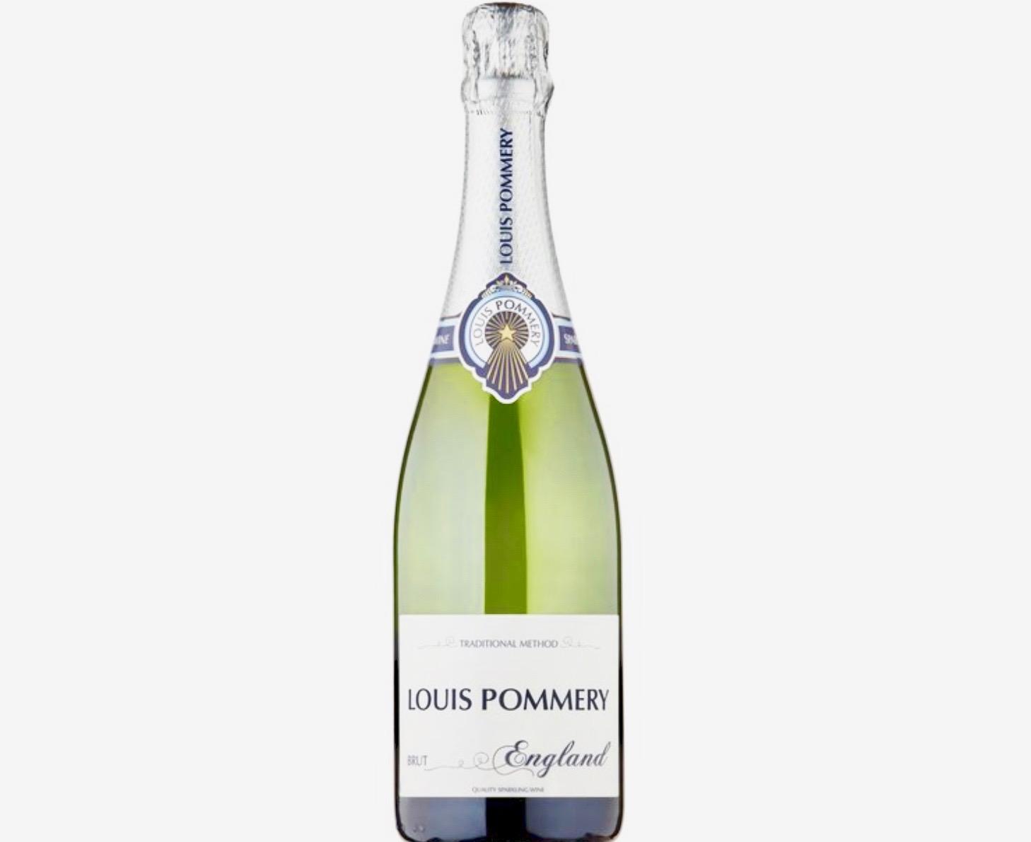 Un sparkling wine anglais nommée Louis Pommery.