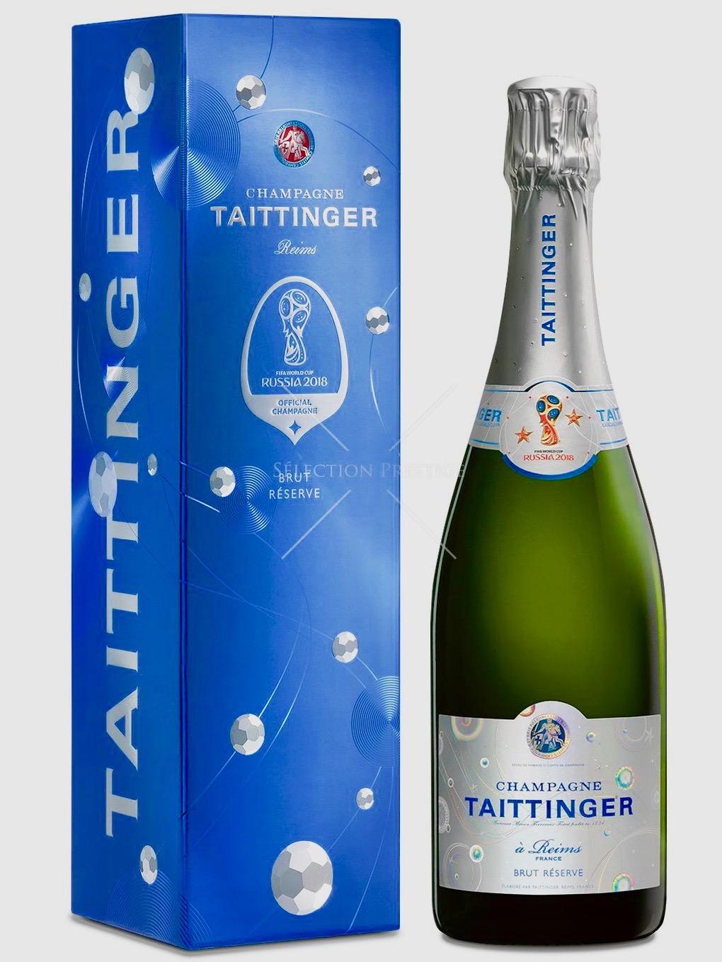 Edition limitée pour la bouteille spéciale Coupe du Monde élaborée par la maison de champagne Taittinger.