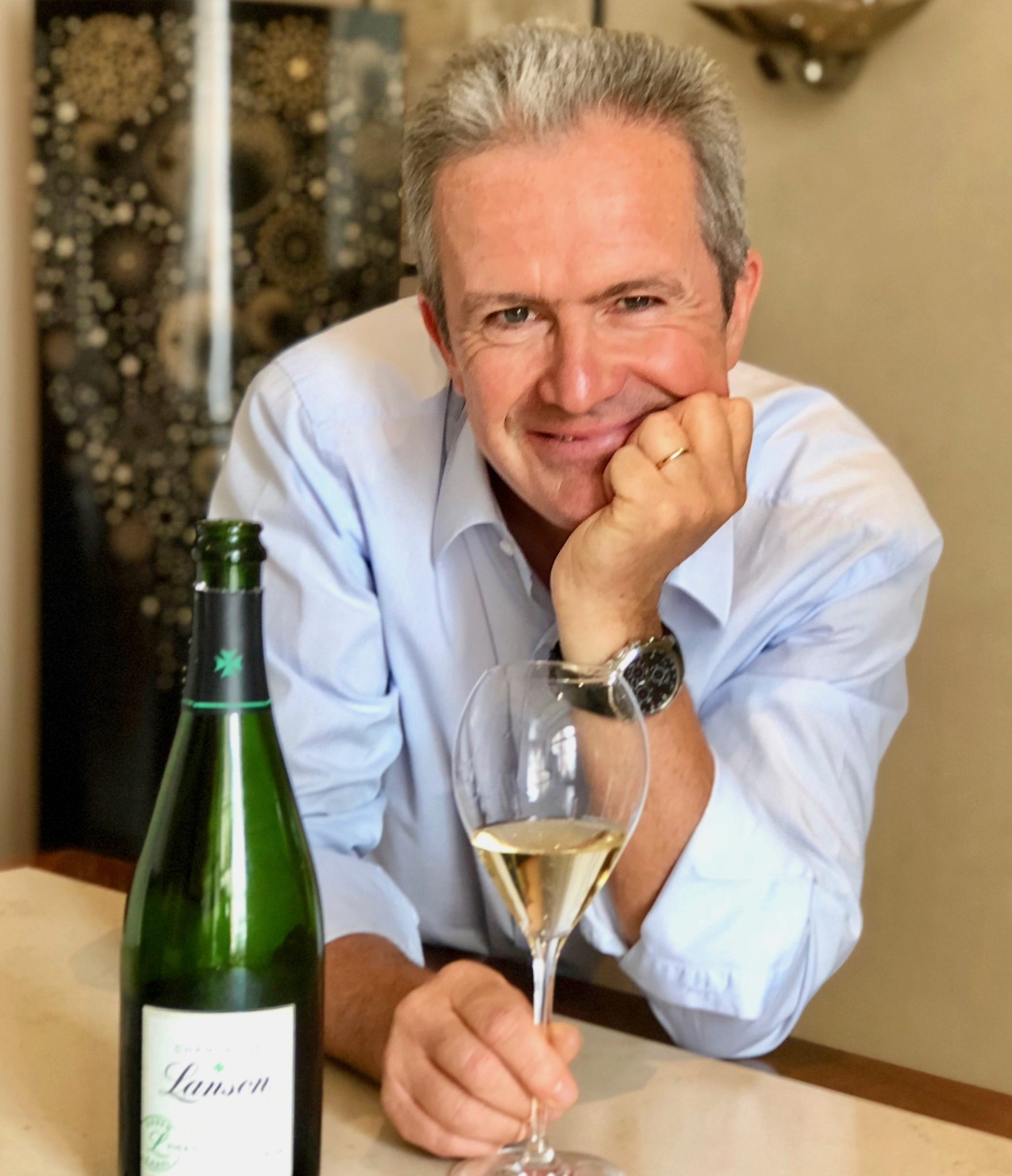Hervé Dantan, chef de caves du champagne Lanson, présente la Green Label, la nouvelle cuvée de la maison.