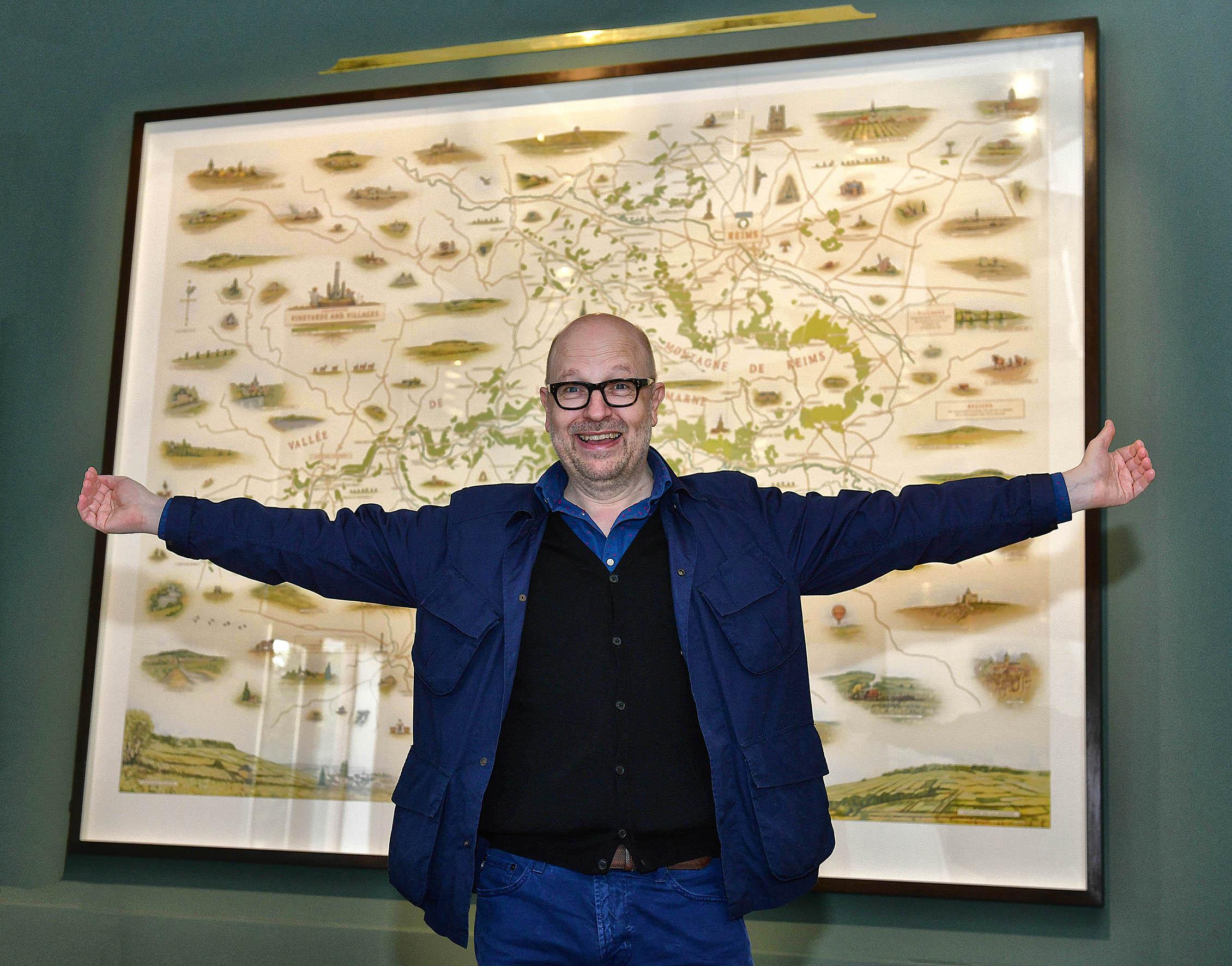 David Eley and the Map ! La nouvelle carte de la Champagne.