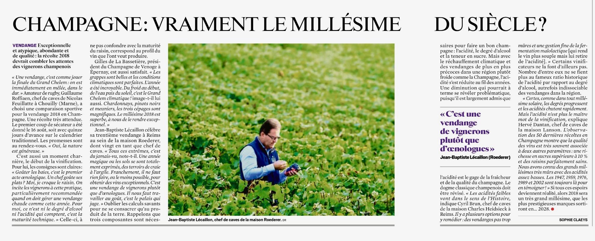 Journal Du Dimanche du 9 septembre 2018.