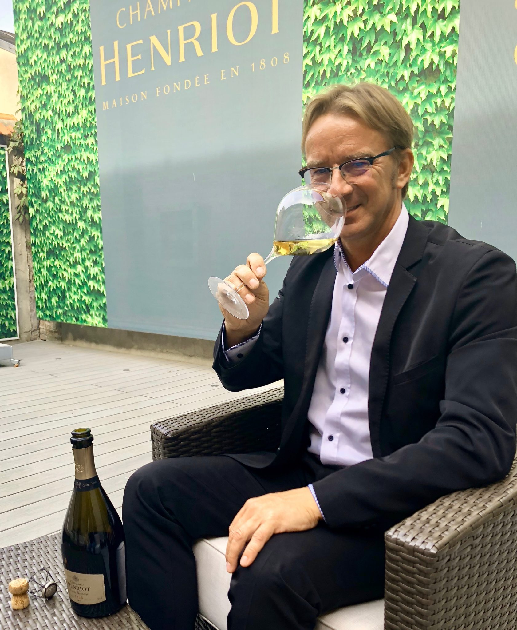 Laurent Fresnet, chef de caves de la maison Henriot lance la cuvée Hemera.