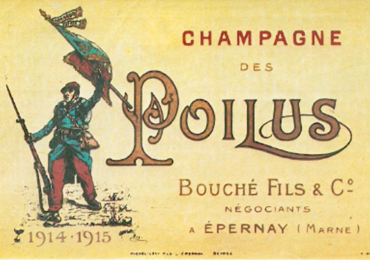 L'hommage aux Poilus d'un négociant champenois.