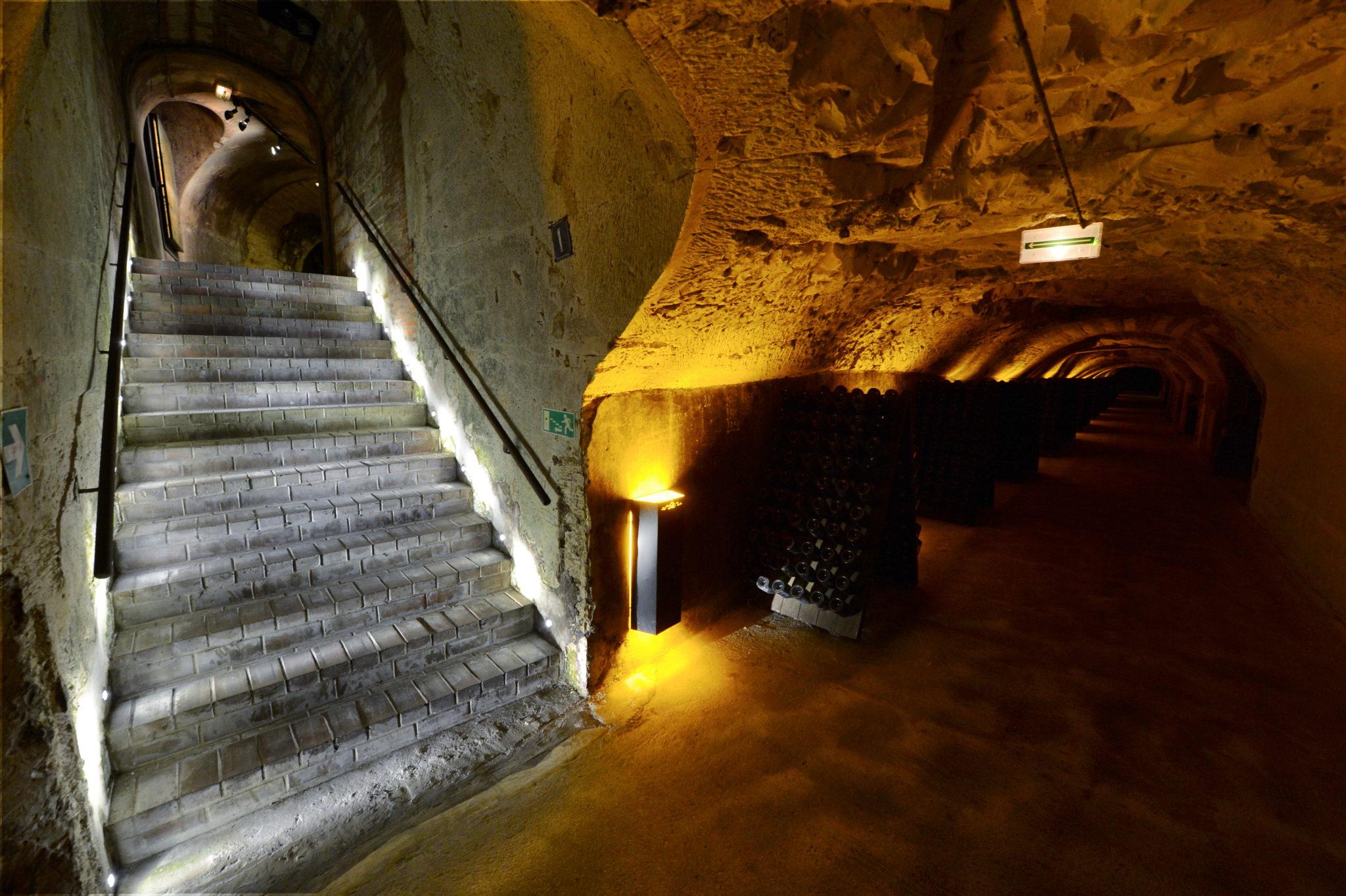 Caves historiques chez Moët & Chandon.