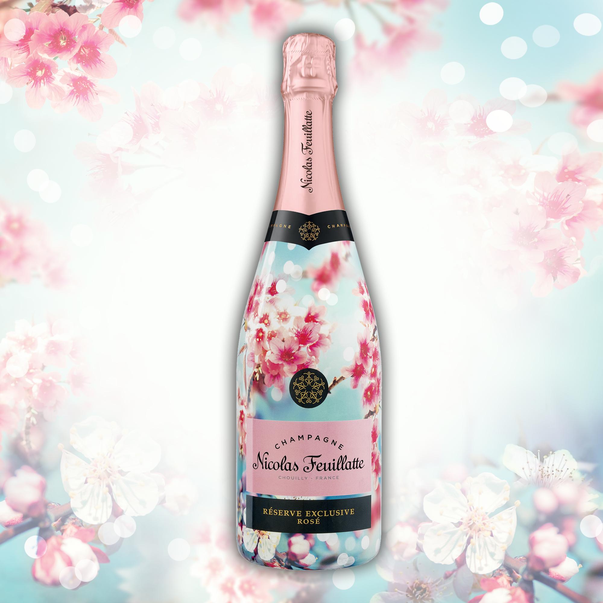 """Le """"Premier rosé de printemps """" de Nicolas Feuillatte."""