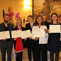 Les nouveaux diplômés en journalistes de la vigne et du vin de l'institut Georges Chappaz
