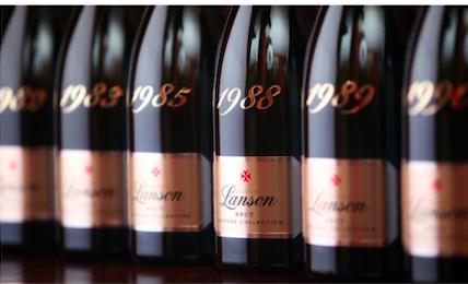 Verticale Lanson (1961-2008) à la Fête du Champagne à New-York