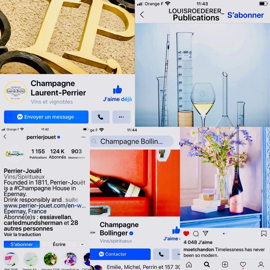 Instagram, Facebook, Youtube… Les 50 champagnes qui comptent sur les réseaux sociaux