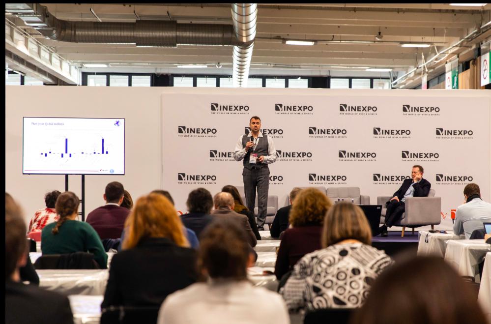 Conférence IWSR / Wine Intelligence  à Vinexpo Paris : Vodka, effervescents, rosé et Instagram